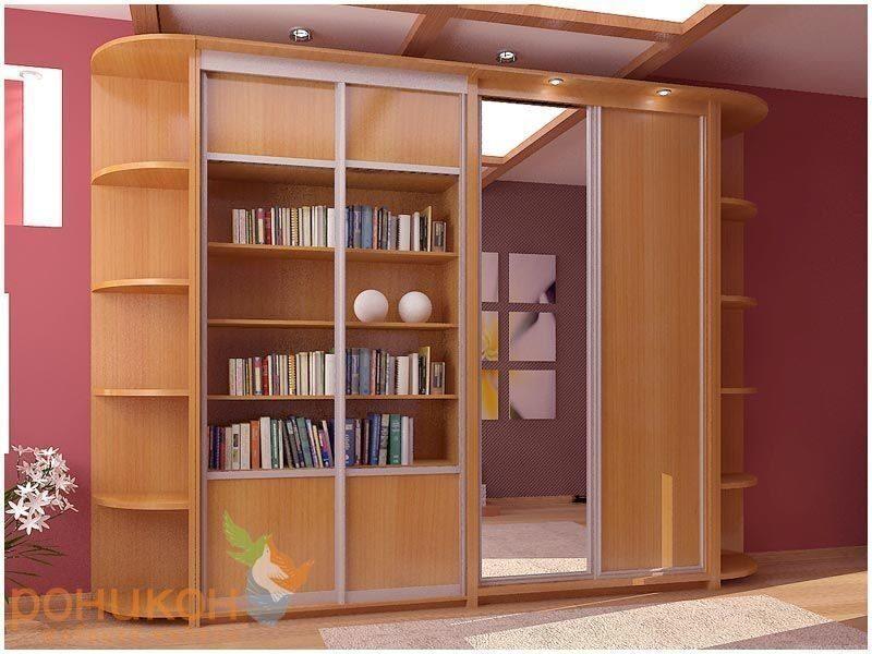 Книжный шкаф на заказ, стеллажи для дома под заказ. купить к.