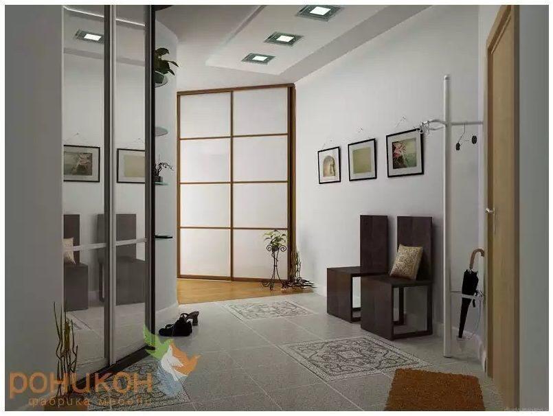 Матовое стекло встроенный шкаф: фото, цена.