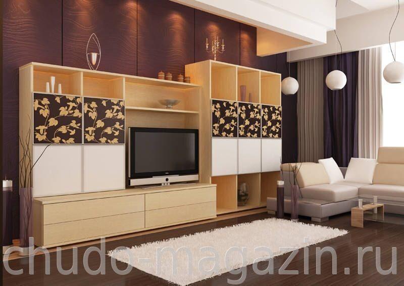 современная стенка для гостиной на заказ купить в москве цена фото